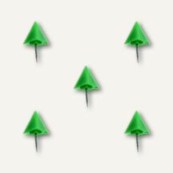 Markiernadeln Pyramide, Kopf: 12.5 mm, Nadel: 7.5 mm, h-grün, 20 St., 1762-17