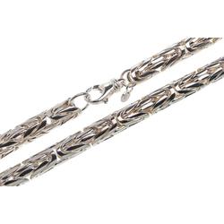 Silberkettenstore Königskette runde Königskette 10mm, 925 Silber 50-100cm 90cm