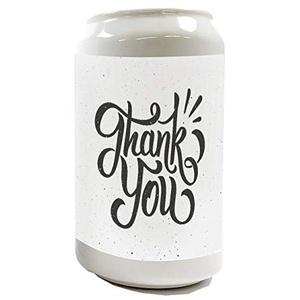 Spardose Sparbüchse Geld-Dose Wiederverschließbar Farbe Weiß Fun Danke Keramik Bedruckt