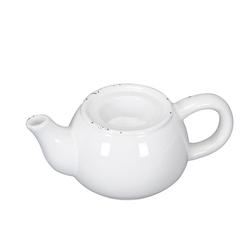 Posiwio Teelichthalter Teelichthalter TEEKANNE weiß Kerzenhalter shabby chic Kanne Landhausstil
