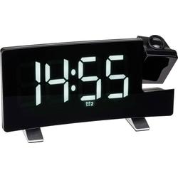TFA Dostmann Funk-Radiowecker Radio-Projektionswecker mit USB-Ladefunktion 60.5015.02