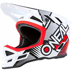 ONeal Blade Polyacrylite Delta S20 Fahrradhelm - Weiß/Rot - L