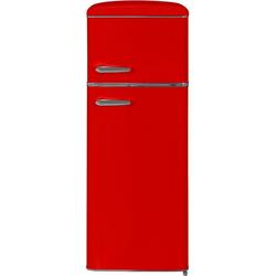 exquisit Kühl-/Gefrierkombination RKGC270-45-H-160E rot, 143 cm hoch, 55 cm breit rot