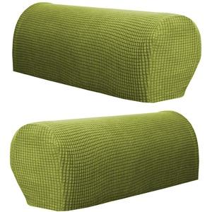 KESOTO 2pcs Armlehnenschoner Sesselschoner Sesselüberwurf Polsterschutz Armlehnen Polster Sesselzubehör - Grün