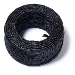 PRYM Gewachstes Garn, schwarz, 20m, 68% Polyester/32% Wachs, Nähfäden,