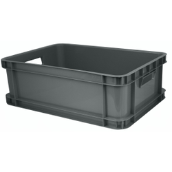 Gies ecoline Multi Box, 30 Liter, Aufbewahrungsbox geeignet für Kinderzimmer, Haushalt oder Büro, Farbe: grau