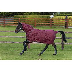 Horseware Amigo HERO ACY Plus 200g Disc burgundy  + Halsteil, Horseware Deckengröße: 160 cm / 7´0