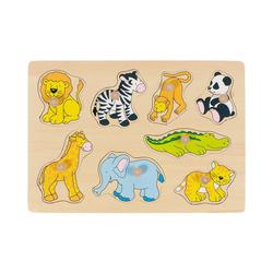 goki Steckpuzzle Steckpuzzle Zootiere, Puzzleteile