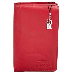 DrachenLeder Geldbörse OPR710R DrachenLeder Portemonnaie mit RFID Block (Portemonnaie), Damen Portemonnaie Echtleder, rot