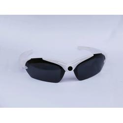 PRECORN Sportbrille Action Cam HD Kamera Brille Sonnenbrille mit integrierter Kamera Sport Kamerabrille Brille in weiß