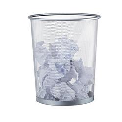Papierkorb silber