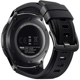 Samsung Gear S3 frontier spacegrau mit Silikonarmband schwarz