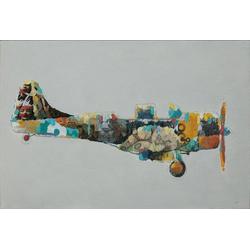 Öl-Wandbild FLUGZEUG (LBH 4x60x90 cm)