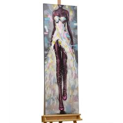 KUNSTLOFT Gemälde Bedeutender Gang, handgemaltes Bild auf Leinwand