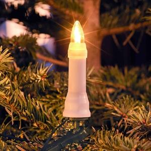 Konstsmide LED-Baumkette Topbirne One String 16 LEDs warmweiß