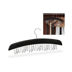 Gürtelhalter Kleiderschrank, Haken für 12 Gürtel, 360° drehbarer Haken, Holz, 17,5x43x5,5 cm,