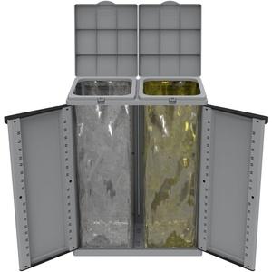 Kreher Mülltonnenbox EcoCab - Kunststoffschrank mit Müllsackhalter