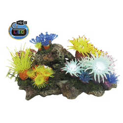 Aqua Ornaments APLYSINA mit Pflanzen, mit LED Aquarium Deko, 27,7 x 14,3 x 14,0 cm