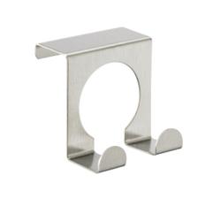 WENKO Tür-Doppelhaken, Edelstahl matt, Problemlos einzuhängen an Türen von 2 cm Falzstärke, 1 Stück