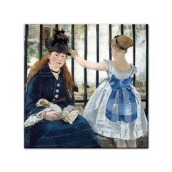 Bilderdepot24 Leinwandbild, Leinwandbild - Édouard Manet - Die Eisenbahn 40 cm x 40 cm