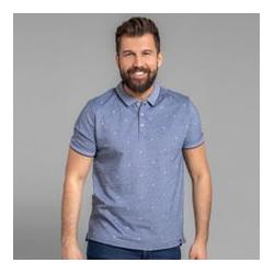 BASEFIELD Poloshirt 1/2-Arm Two-tone-Optik printed