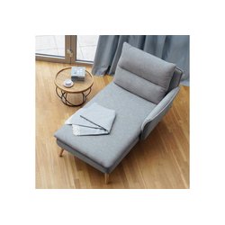 PLACE TO BE. Recamiere, Recamiere Ottomane Chaiselongue Sitzbank Polsterbank Tagesbett Daybed mit Armlehne rechts grau