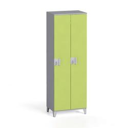 Zweiteiliger kleiderschrank 1750 x 600 x 400 mm, grau/grün