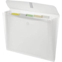 Fächer Klettverschlussmappe 'light' A4 PP 5 Fächer Klettverschluss farblos