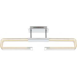 27 Watt LED Treppenhaus Deckenleuchte aus Chrom SARDEGNA