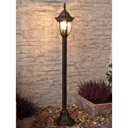 Licht-Erlebnisse Außen-Stehlampe MILANO Wegeleuchte Gold Antik Garten Hof Haus Stehlampe E27 Lampe