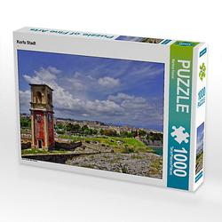 Korfu Stadt Lege-Größe 64 x 48 cm Foto-Puzzle Bild von Martina Fornal Puzzle