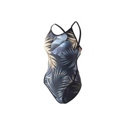 ZAOSU Schwimmanzug Golden Leaf Badeanzug Mädchen 140