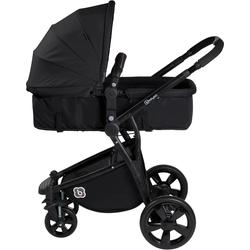 BabyGo Kombi-Kinderwagen Spring, black, 15 kg schwarz Kinder Kombikinderwagen Kinderwagen Buggies