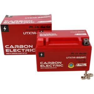 Carbon Electric Gel Batterie YTX7A-BS UTX7A-BS 12V 7Ah Wartungsfrei Versiegelt Akkumulator Motorrad Roller Motorradbatterie Rollerbatterie
