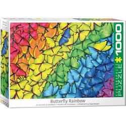 empireposter Puzzle Leuchtender Regenbogen aus Schmetterlingen - 1000 Teile Puzzle im Format 68x48 cm, 1000 Puzzleteile