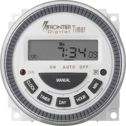 Fronttafeleinbau-Zeitschaltuhr digital 230 V/AC 16 A/250V