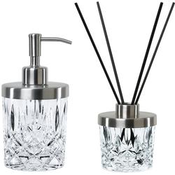 Nachtmann Seifenspender Noblesse, (Set, Seifenspender mit Diffuser und Stäbchen), Kristallglas