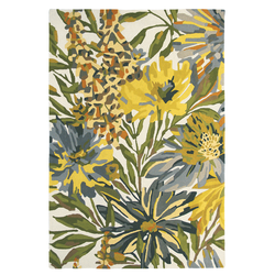 Wollteppich Floreale (Gelb; 140 x 200 cm)
