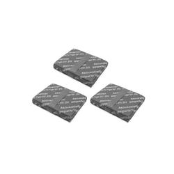 AccuCell Staubsaugerrohr 3x Staubsaugerfilter, Aktivkohlefilter, Kohlefas