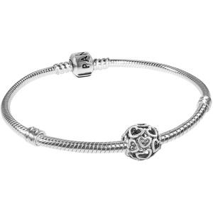 Pandora 79244 Starter-Armband für Damen Hearty Silber, 18 cm