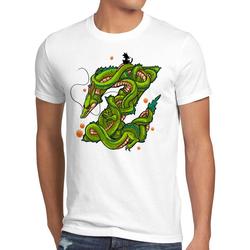 style3 Print-Shirt Herren T-Shirt Z Drache shenlong dragon gokui ball shenron weiß XL