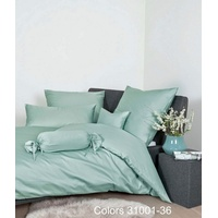 JANINE Colors 31001 rauchgrün 135 x 200 cm + 80 x 80 cm