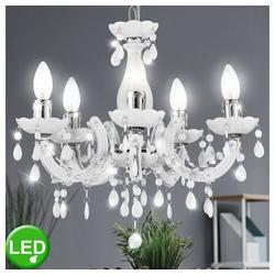 etc-shop Kronleuchter, LED 15 Watt Hängeleuchte Hängelampe Kronleuchter Deckenbeleuchtung Innenbeleuchtung Lampe chrom weiß