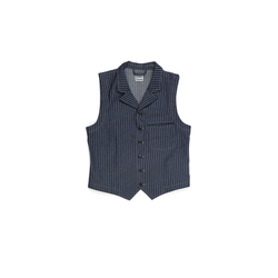 Blue Blanket V02 Weste Vest Striped Denim - 11 oz