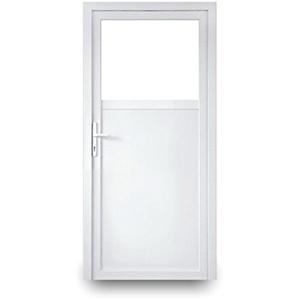 Nebeneingangstür mit Drückergarnitur - weiß - 90x190 cm - Außenöffnend - DIN Links - 2-fach-Verglasung - verschiedene Maße