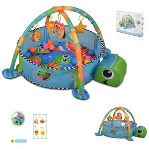 Cangaroo Spielbogen Spielbogen Sea Turtle, Krabbeldecke, Stofftiere, Bällebad mit 30 Bällen blau