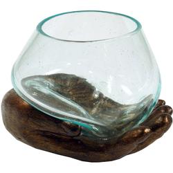 Guru-Shop Windlicht Teelichtglas aus Mundgeblasenem Glas auf.. gelb