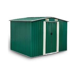 Estexo - Remise à outils Abri de jardin toit à pignon métal vert 257x205x178cm