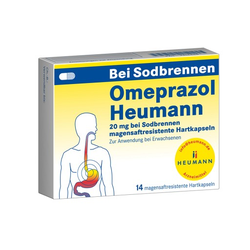 OMEPRAZOL Heumann 20 mg b.Sodbr.magensaftr.Hartk. 14 St
