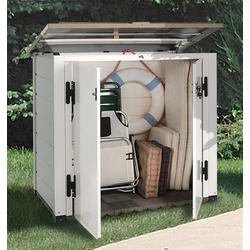 Garofalo Mülltonnenbox EVO LINE 100, für 2x120 l aus Kunststoff, BxTxH: 122,5x82,5x133 cm